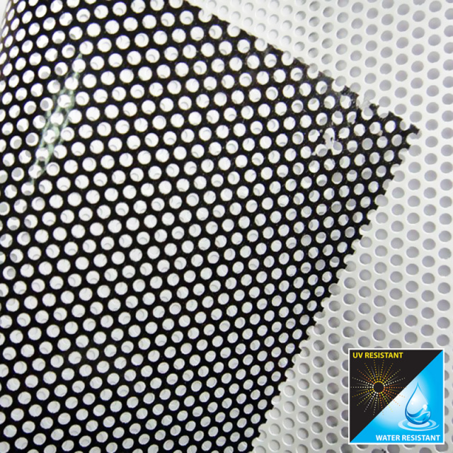 Perforated Window Stickers Custom Mesh Vinyl Sticker